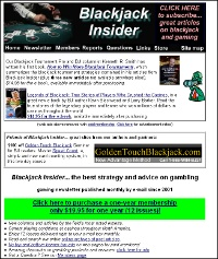 Blackjack Insider