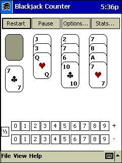 Blackjack Counter for Pocket PC sscreen shot