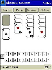 Blackjack Counter for Pocket PC