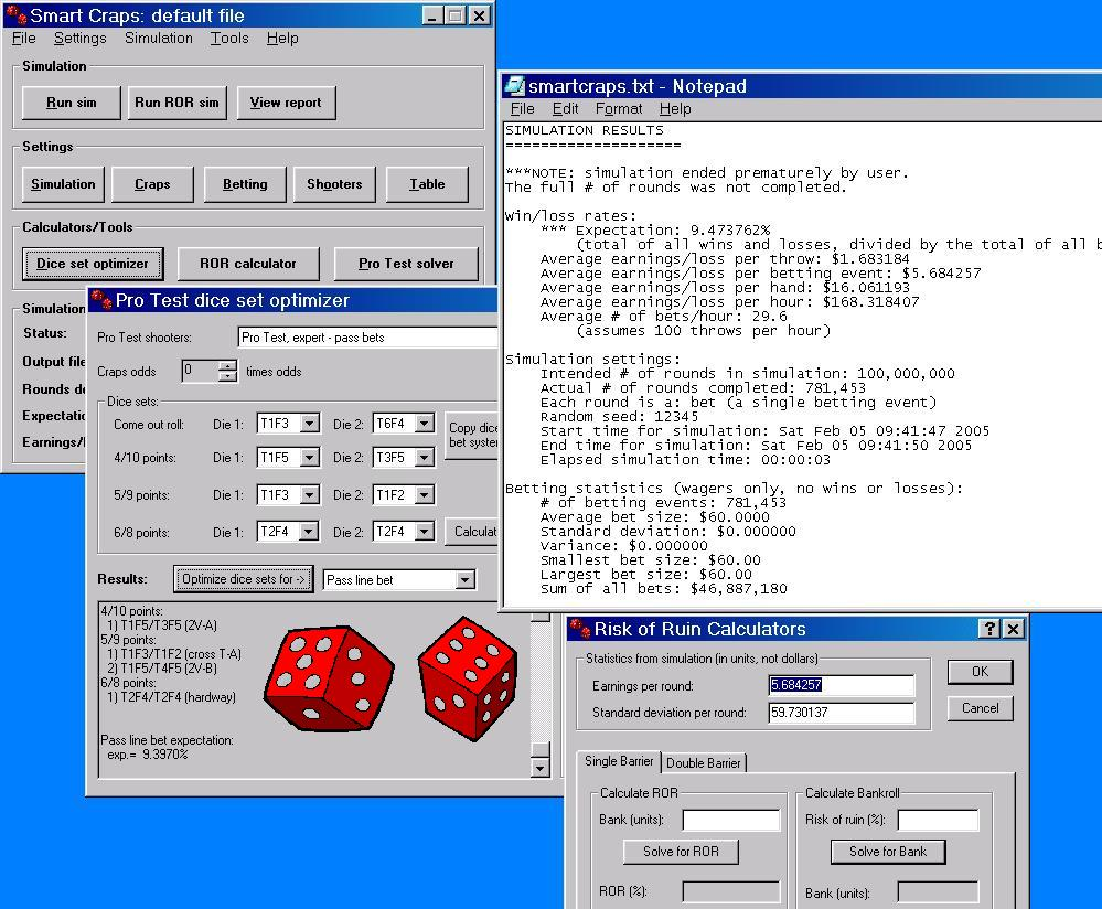 Script Betting Module for Smart Craps